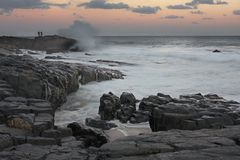 1 заход солнца sheffield рыболовов пляжа Стоковые Фотографии RF