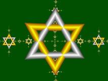 1 звезда Давида Стоковые Изображения RF