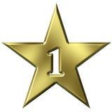 1 звезда номера Стоковая Фотография