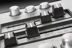 1 звук регуляторов кнопок Стоковое фото RF