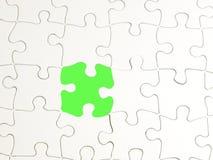 1 зеленая головоломка стоковое фото rf