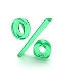 1 зеленый знак процентов Стоковая Фотография RF