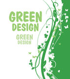 1 зеленый цвет предпосылки Стоковые Фото