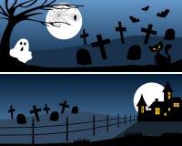 1 знамена halloween иллюстрация вектора