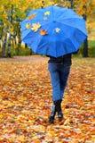 1 зонтик листьев Стоковое фото RF