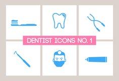 1 зубоврачебное нет икон дантиста Стоковая Фотография RF