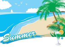 1 каникула лета пляжа иллюстрация штока