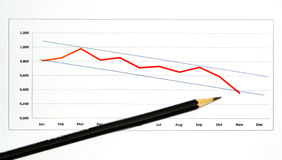 1 карандаш диаграммы Стоковые Фото