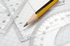 1 карандаш математики Стоковое Изображение
