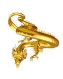 1 китайский дракон золотистый Стоковое Изображение