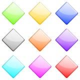 1 комплект диаманта лоснистый Стоковые Фотографии RF