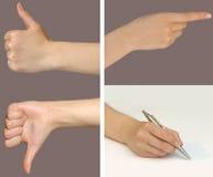 1 комплект жеста Стоковые Изображения RF