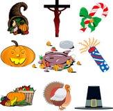 1 комплект иконы праздника Стоковые Фото