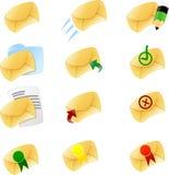 1 комплект иконы электронной почты Стоковое фото RF