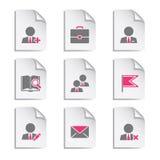 1 комплект серого цвета документа Стоковое Изображение