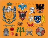 1 комплект элементов heraldic иллюстрация штока