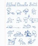 1 комплект doodle Альфреда Стоковое Изображение