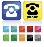 1 контакт кнопки Стоковая Фотография