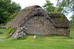 1 коттедж culloden leanach Шотландия Стоковые Фотографии RF