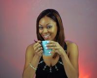 1 красивейшая девушка кофе предназначенная для подростков Стоковые Фото