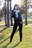 1 красивейшая женщина outdoors Стоковые Изображения