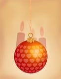 1 красный цвет орнамента рождества Стоковые Изображения