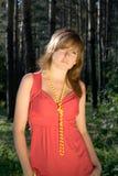 1 красный цвет повелительницы Стоковая Фотография