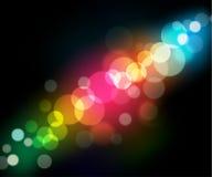1 круг предпосылки легкий редактирует радугу к Стоковая Фотография