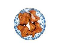 1 крыла курят цыпленком, котор Стоковое Фото