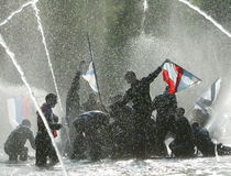 1 купая фонтан Стоковая Фотография