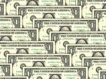 1 куча США дег долларов предпосылки Стоковая Фотография