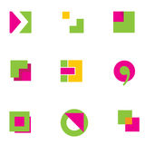 1 логос конструкции геометрический Стоковые Фотографии RF