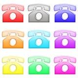 1 лоснистый телефон комплекта Стоковые Изображения
