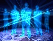 1 люд разряда двоичного числа Стоковые Изображения