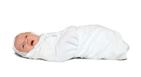1 месяц пеленки младенца Стоковое Изображение RF
