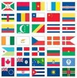 1 мир 8 флагов Стоковая Фотография