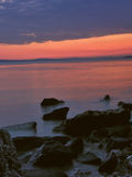 1 море облицовывает заход солнца Стоковое Изображение RF