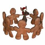 1 мышь танцы рождества иллюстрация вектора