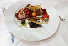 1 мясо тарелки Стоковые Фото