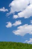 1 небо холма травы вверх Стоковое фото RF