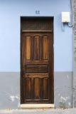 1 номер двери деревянный стоковая фотография