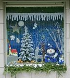 1 окно рождества Стоковое Изображение RF