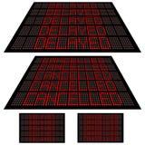 1 отмененный задержанный комплект водить дисплеем иллюстрация вектора