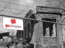 1 отсутствие trespassing Стоковое Фото