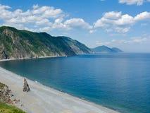 1 пляж заволакивает море Стоковая Фотография RF