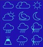 1 погода икон Стоковые Фото