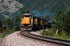 1 поезд горы Стоковые Изображения