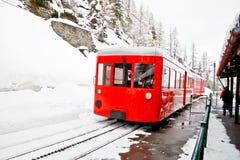 1 поезд станции cog красный Стоковые Фотографии RF