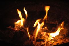 1 пожар танцульки Стоковое фото RF