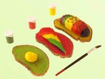 1 покрашенная еда Стоковые Фотографии RF
